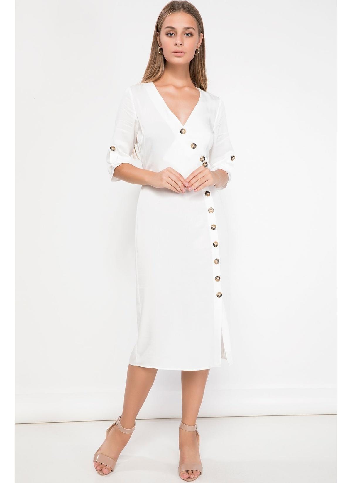 Defacto Düğme Detaylı Elbise K1140az18auer178elbise – 99.99 TL